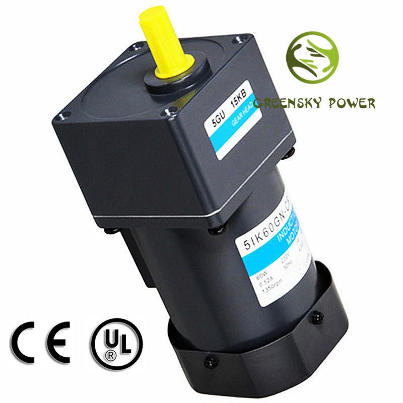 Low Rpm AC Reversible 60W 90mm (stronger) Gear Motor