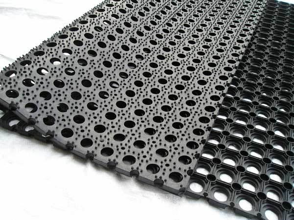 Interlocking Rubber Mat, Anti-Skidding Rubber Mat, Rubber Drainage Mats