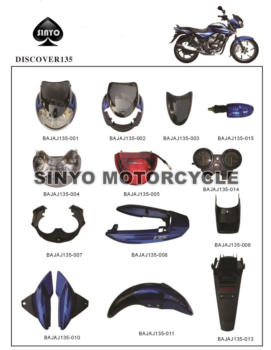Wholesale Bajaj Hot Sell Motorcycle Spare Parts