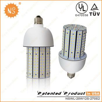 Ce RoHS UL E26 E27 E39 E40 5 Year Warranty 20W 2700lm 30W 40W 50W 60W 80W 100W 120W Cobra Acorn Post Top Corn LED Lamp