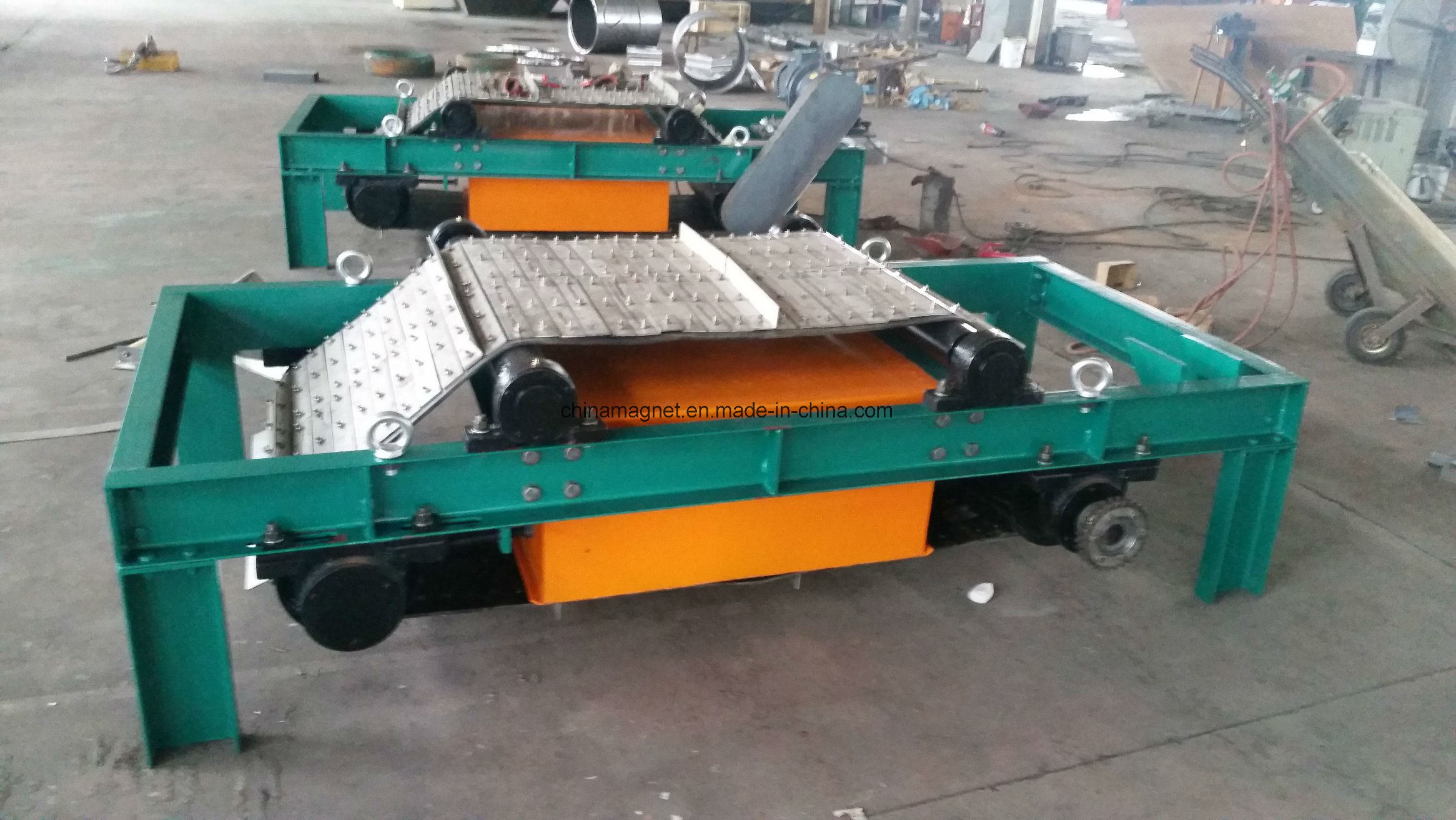 Rcyk Auto Cleaning Steel Armored Belt Permanent Magnetic Iron Remover/Separator for Steel Factory