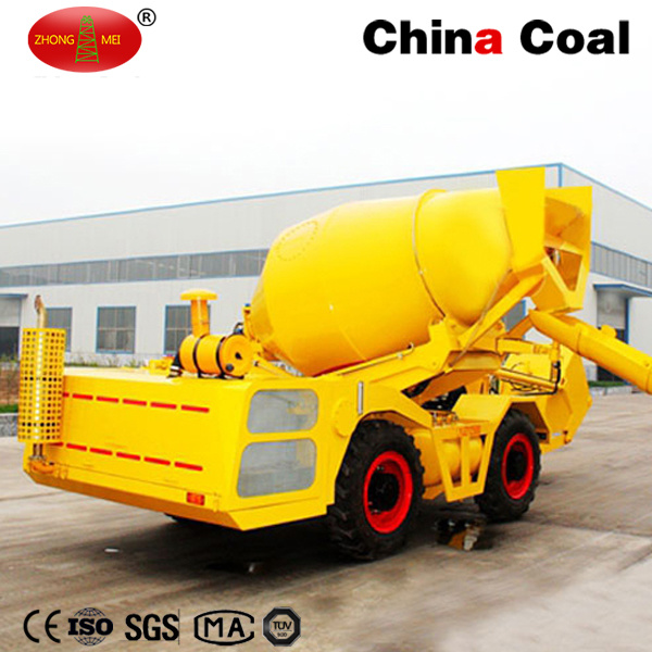 Diesel Engine 1cbm Self Propelled Concrete Mixing Truck