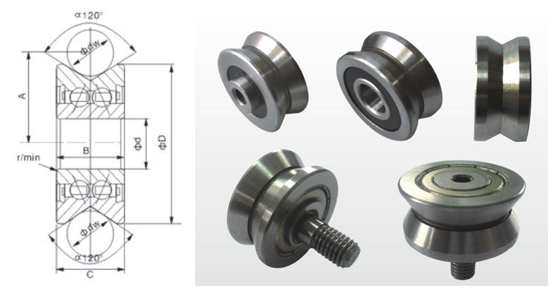 Sliding Window and Door Bearing Type V Groove Guide Bearing