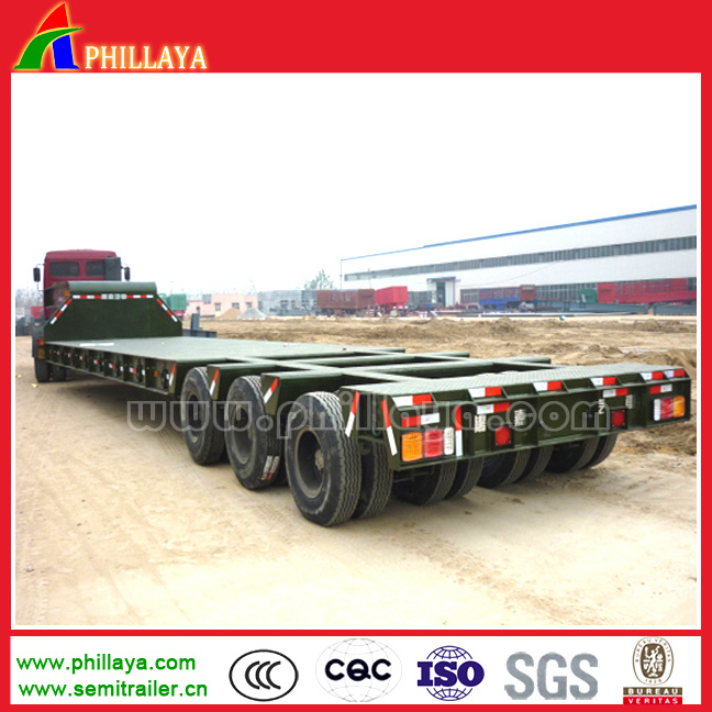 80ton-120ton 3lines 6axles Heavy Duty Truck Low Bed Semi Trailers