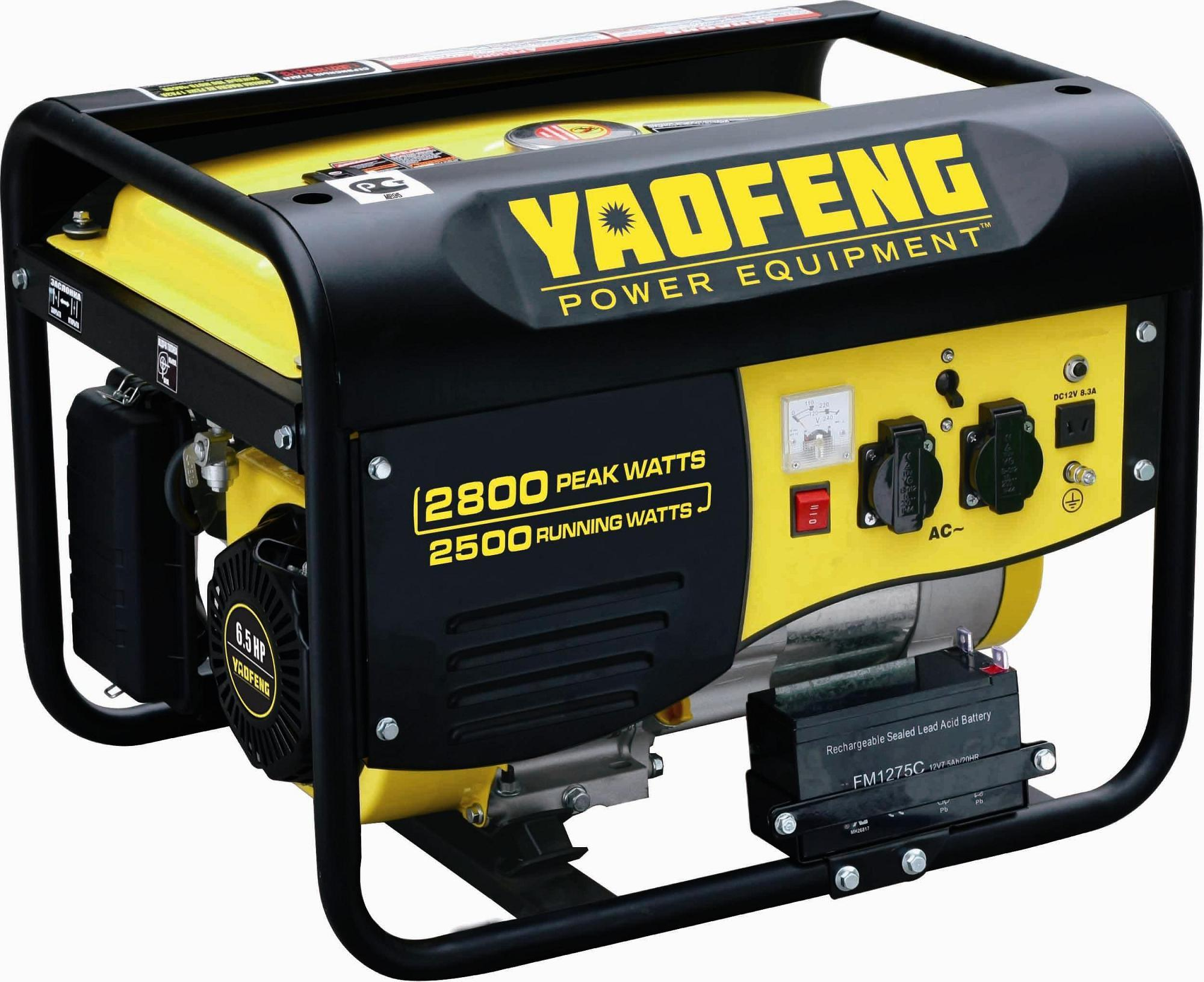 2500 Watts Portable Power Gasoline Generator with EPA, Carb, CE, Soncap Certificate (YFGP3000E1)