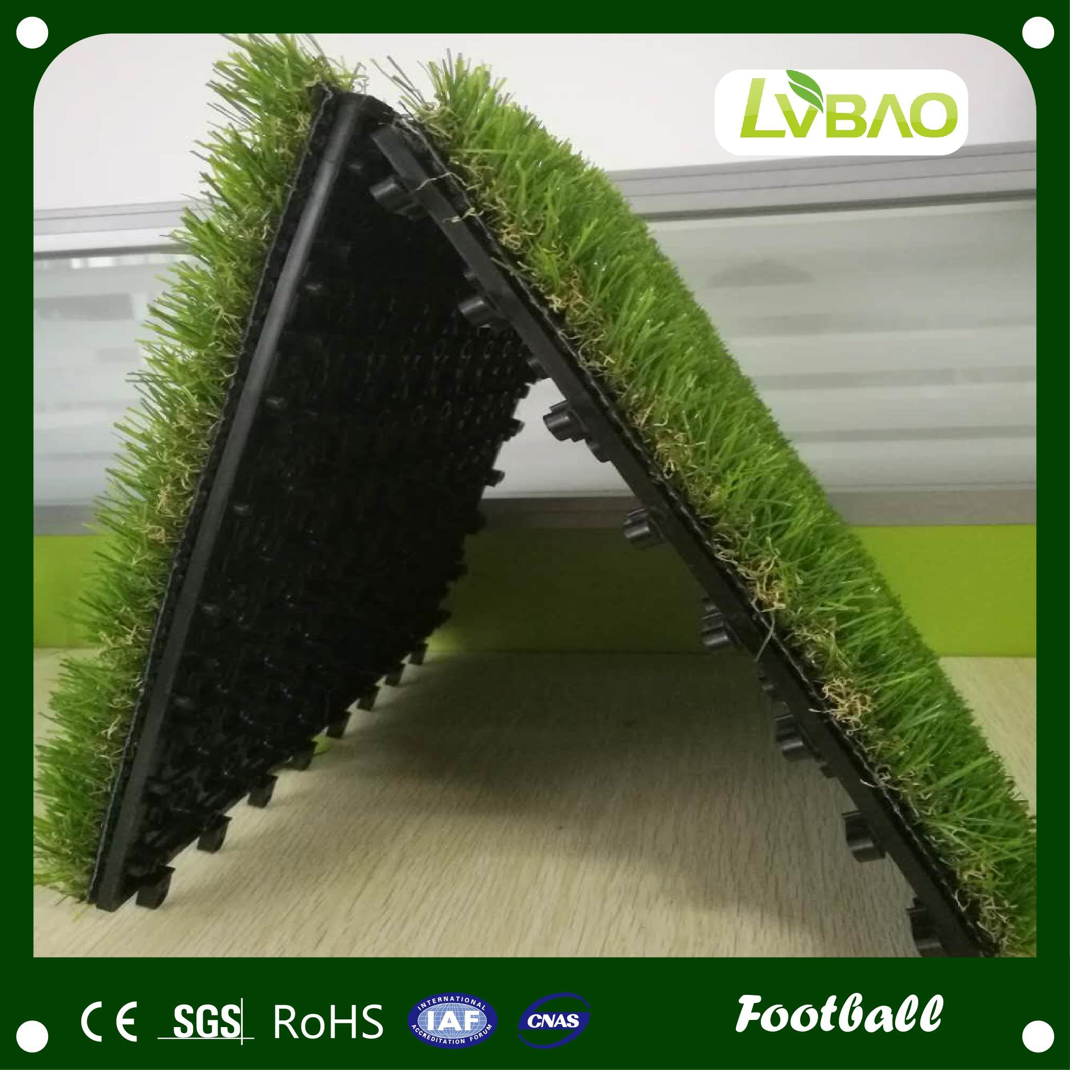 Outdoor Garden Decoration Interlocking Artificial Grass Tile