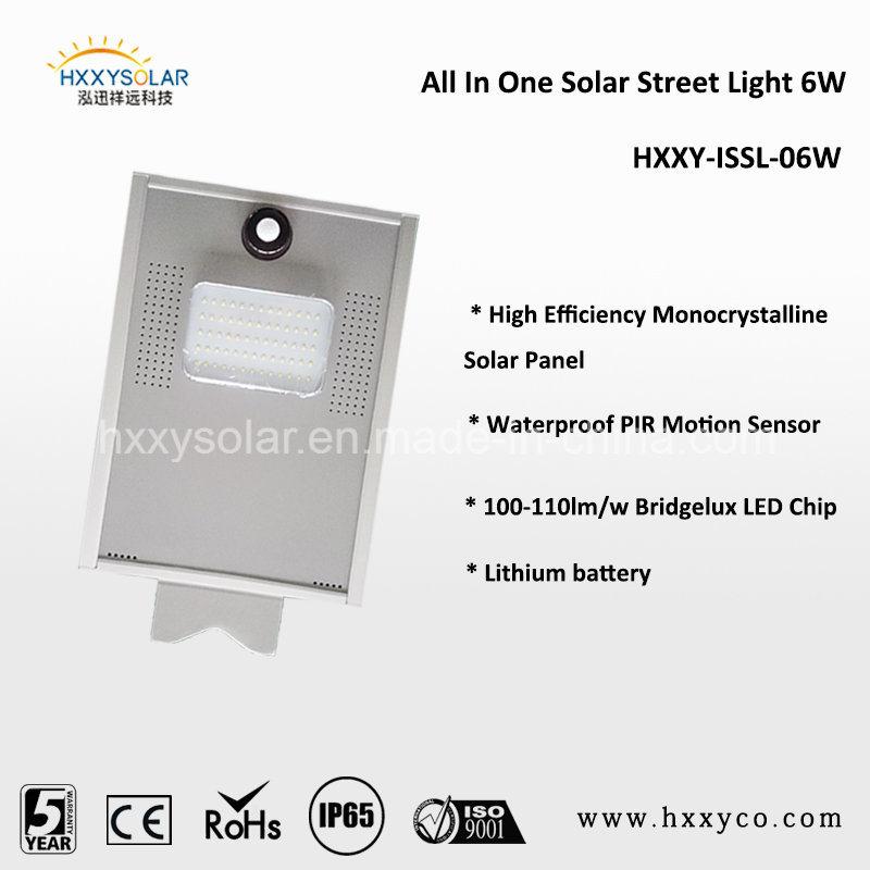 IP65 Outdoor Motion Sensor Integrated All in One Solar LED Street Light
