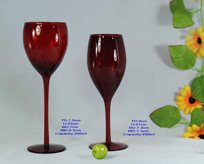 China Red Wine Glass - China Colored Wine Glass, Glass ...