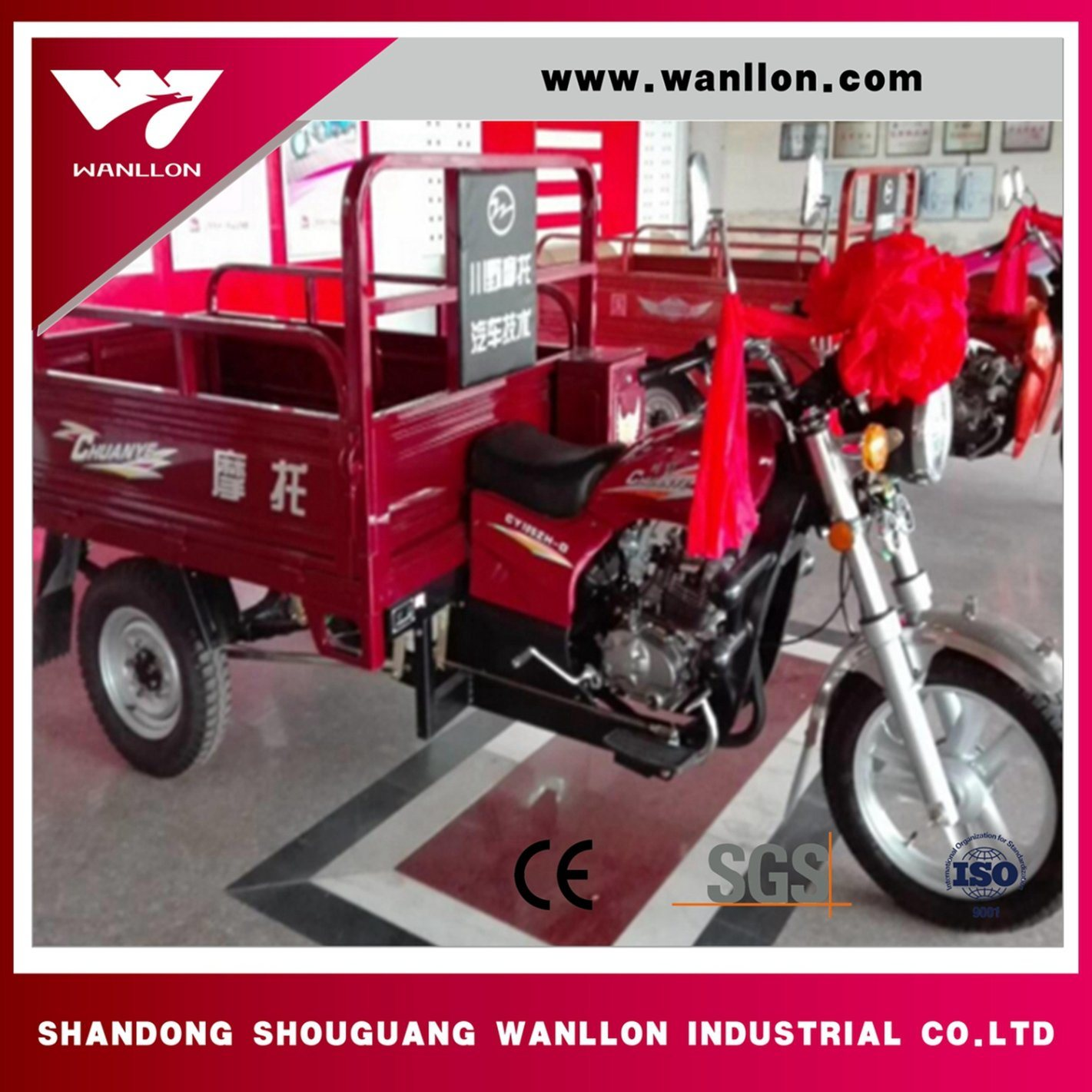 Air Cooled Engine Motorized Cargo Trike /3 Wheel Tricycle