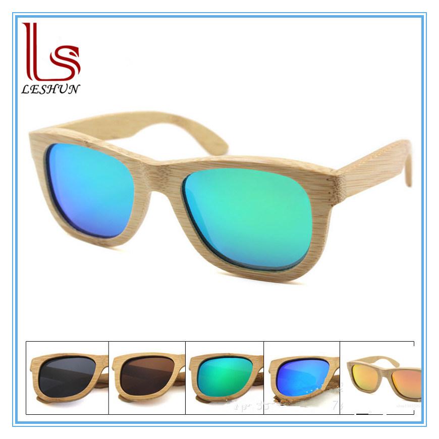 Customized Logo Fashion Handmade Bamboo Wooden Sunglasses