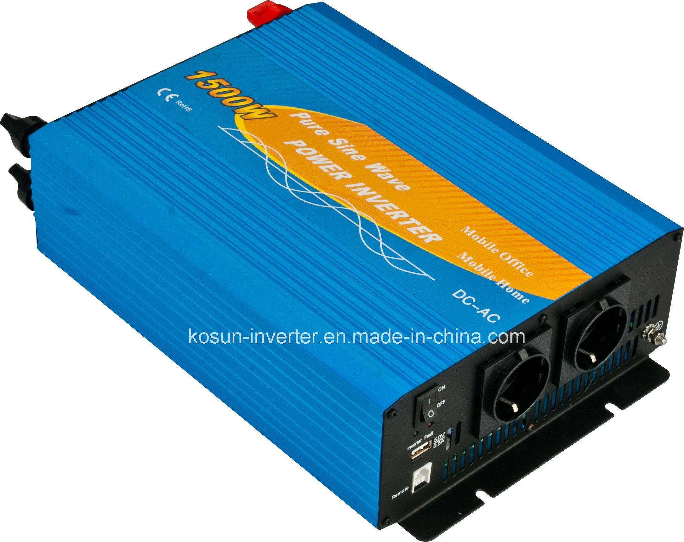 ISO9001 New Model 12V 110V off Grid 1500W Power Inverters