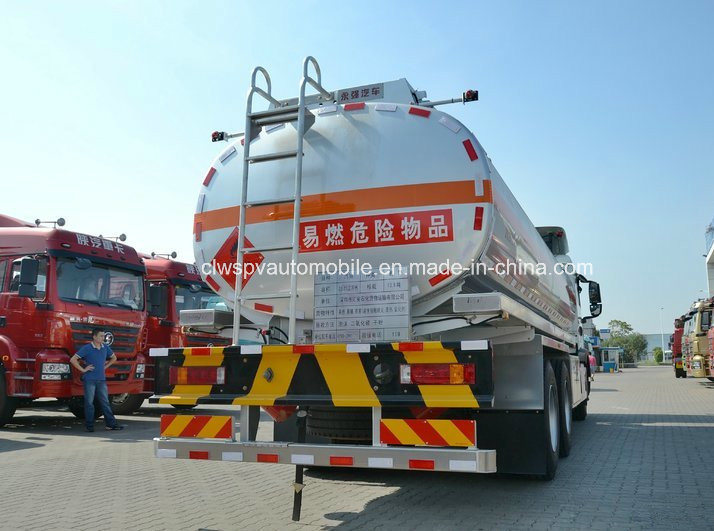 HOWO 20 T to 25 T Aluminum Alloy Tanker Truck 25000 L Fuel Tank Truck for Sale