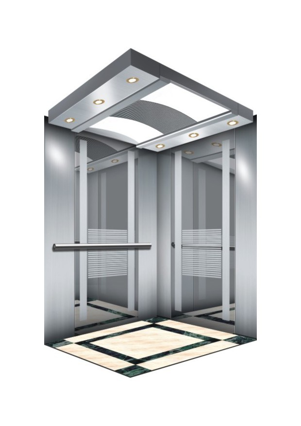 Gearless Vvvf Panoramic Lift Elevator with Machine Room