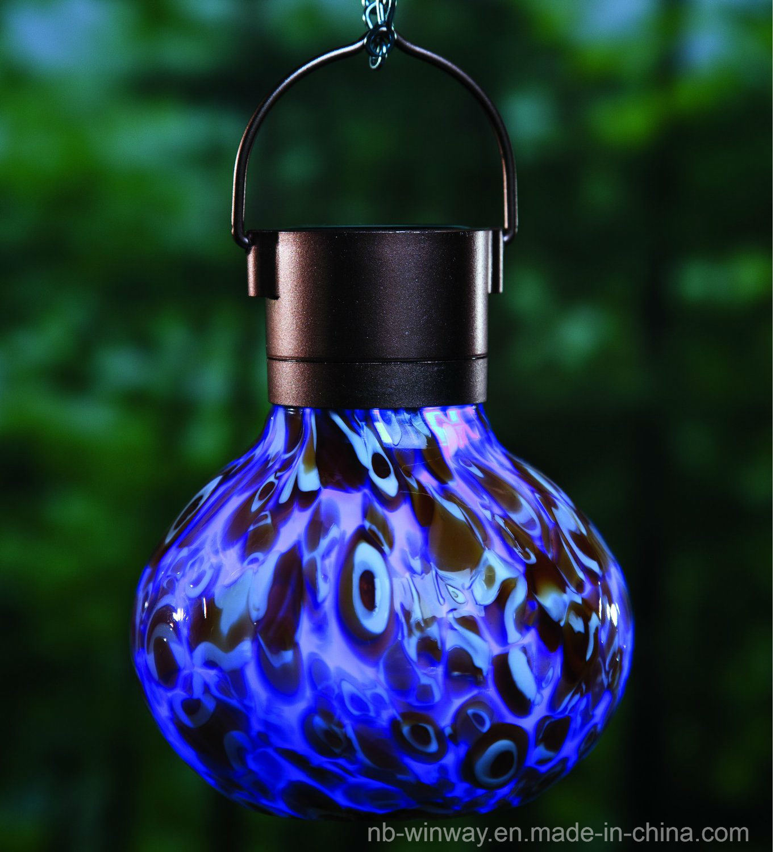 Weather Glass Solar Lava Lantern