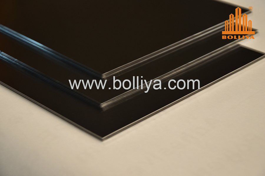 Gold Golden Mirror Brush Hairline Aluminium Composite Sign Substrate for Road Sign