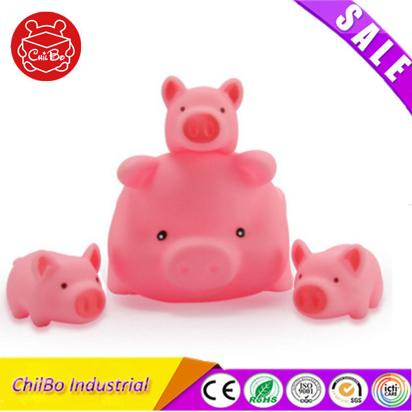 Soft Vinyl Mini Pink Pig Baby Bath Toy