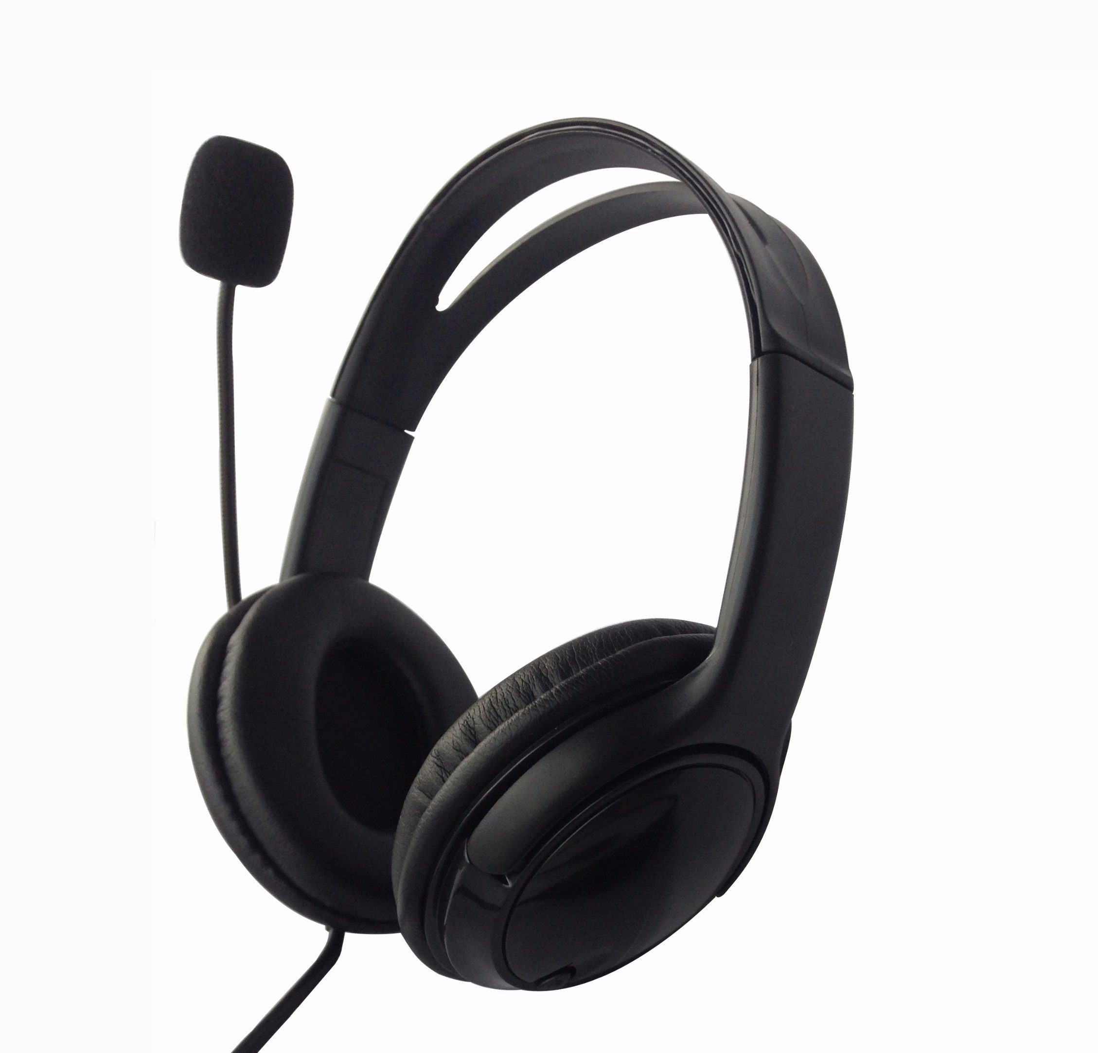 Foldable Headphones Adjustable Headband Headsets with Microphone and Volume Control 3.5mm for Cellphones Smartphones