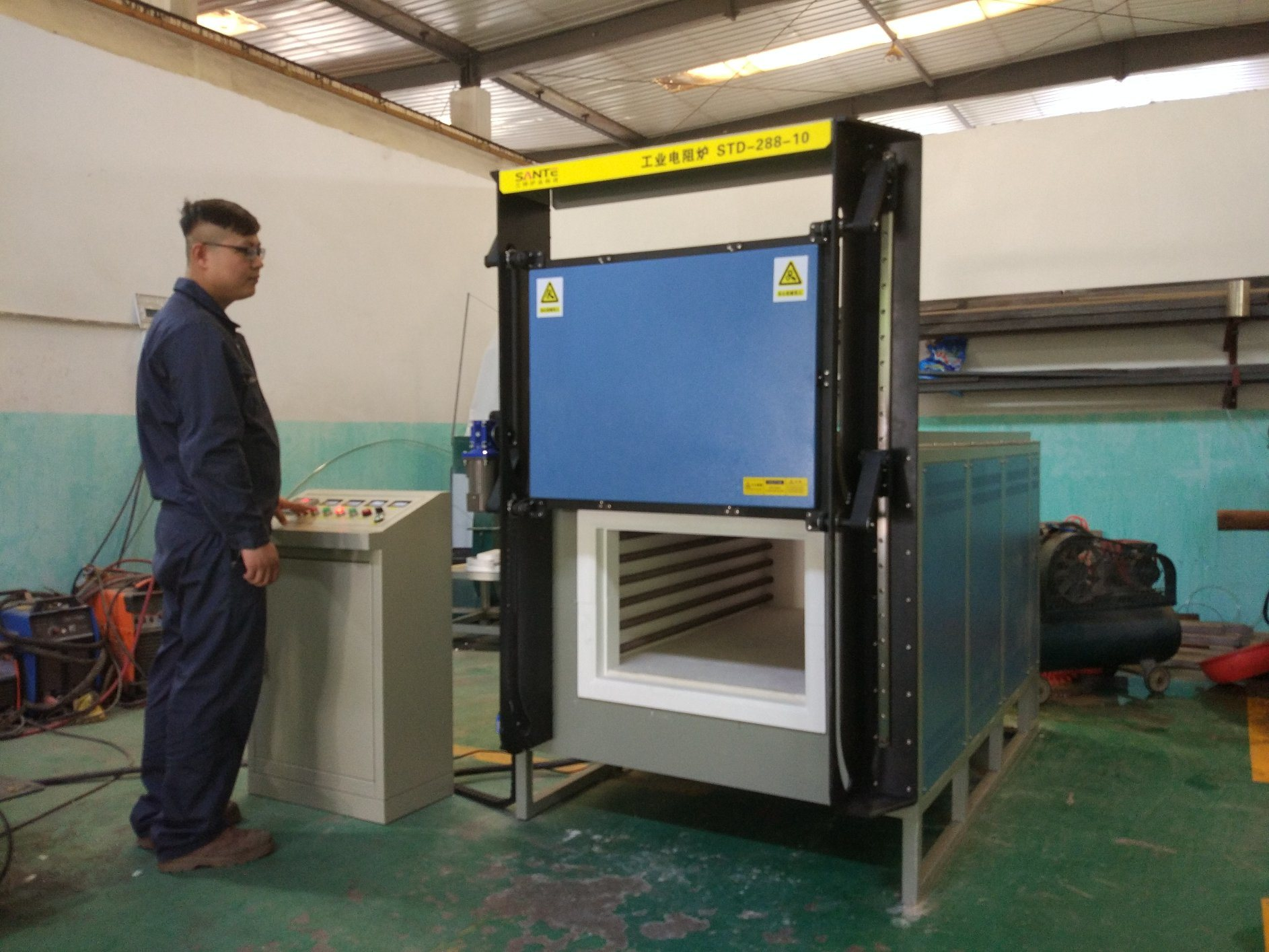 1200c 96liters High Temperature Electric Resistance Furnace for Heat Treatments