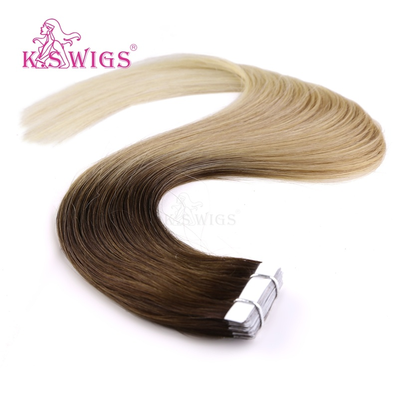 K. S Wigs 2017 New Arrival Top Quality Tape Hair Extension Human Hair Extension