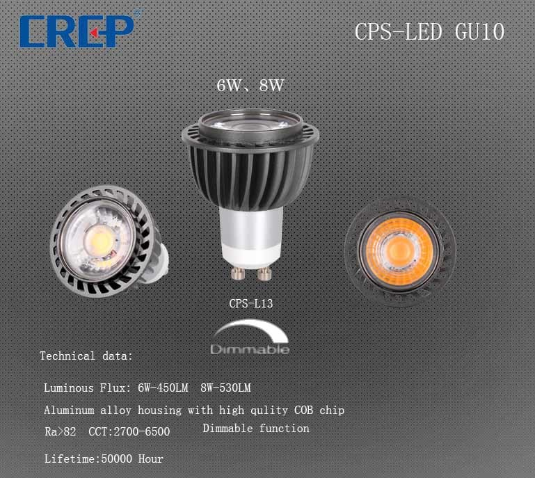 GU10 30 Degree LED Spotlight with Lens Replacement 60W Philip Halogen, 3000-6000k
