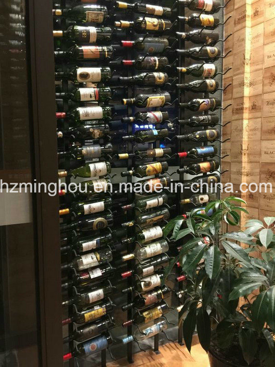 Floor to Ceiling Wall Mounted Large Scale Iron Wine Rack