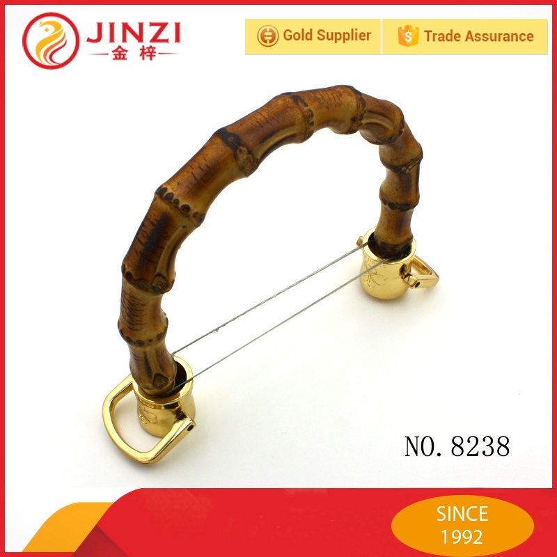 Handbag Bamboo Handle Metal Hardware for Bags