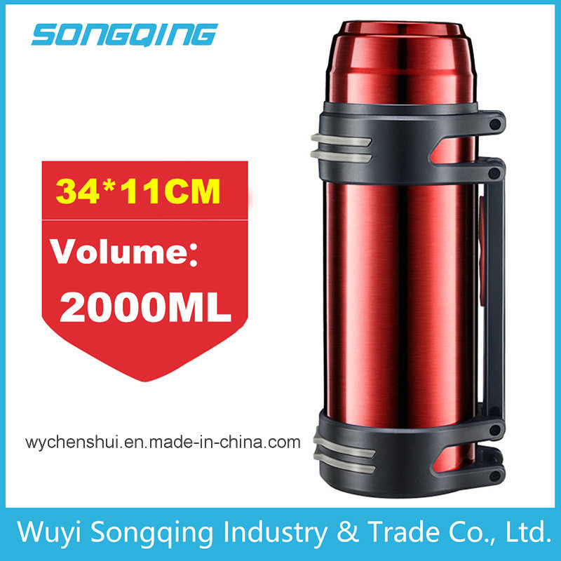 2017 New Design Thermos Travel Bottle Outdoor Bottle Travel Vacuum Flask with Wide Mouth