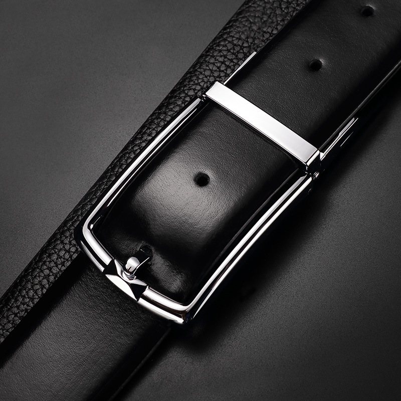 Smart Leather Belt for Men Pin Buckle Phone Anti Lost