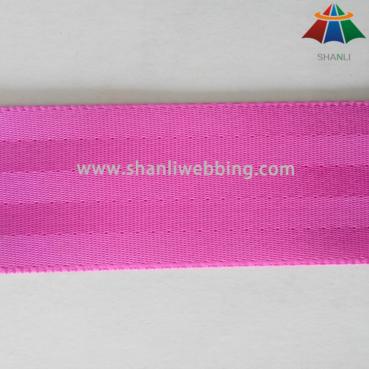 4.5cm Rose Red Nylon Seat Belt Webbing