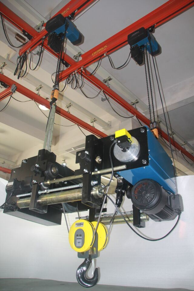 Brima 32/5t Europe Type Double Hook Double Girder Electric Wire Rope Hoist Crane