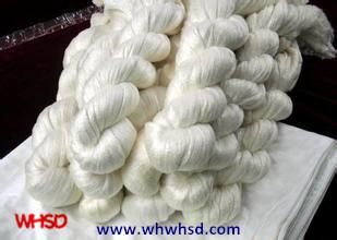 China Wholesale Raw Silk Fabric 100% Mulberry Spun Silk Yarn