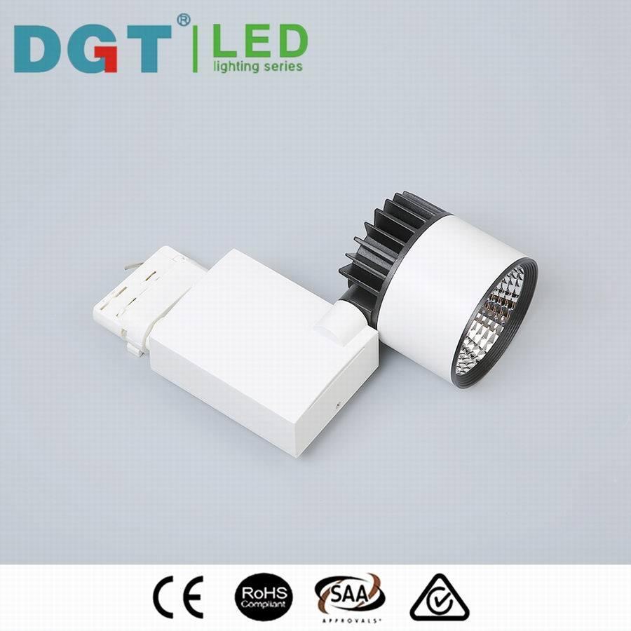 30W White/Black CRI90 COB LED Track Rail Light