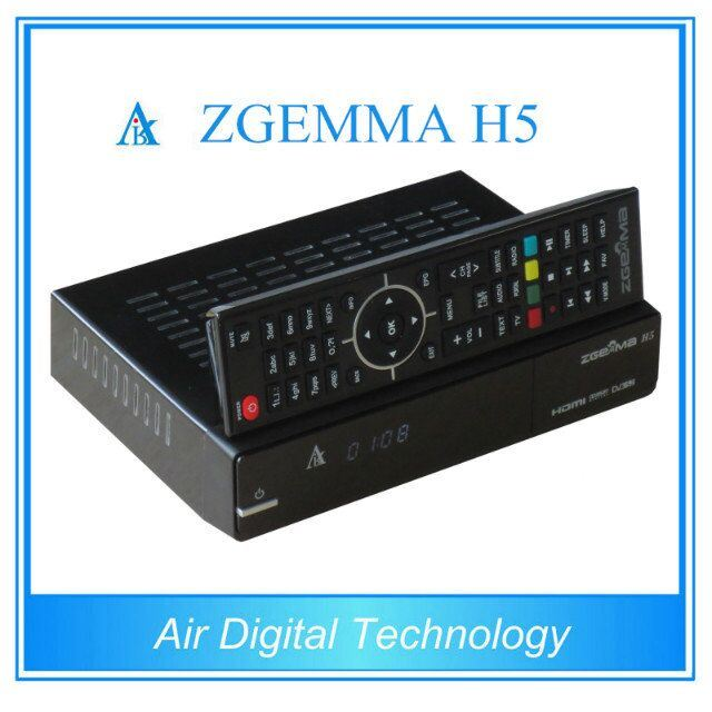 Full in Stock! Air Digital Zgemma H5 Satellite Receiver Linux OS Enigma2 DVB-S2+T2/C H. 265 Twin Tuners