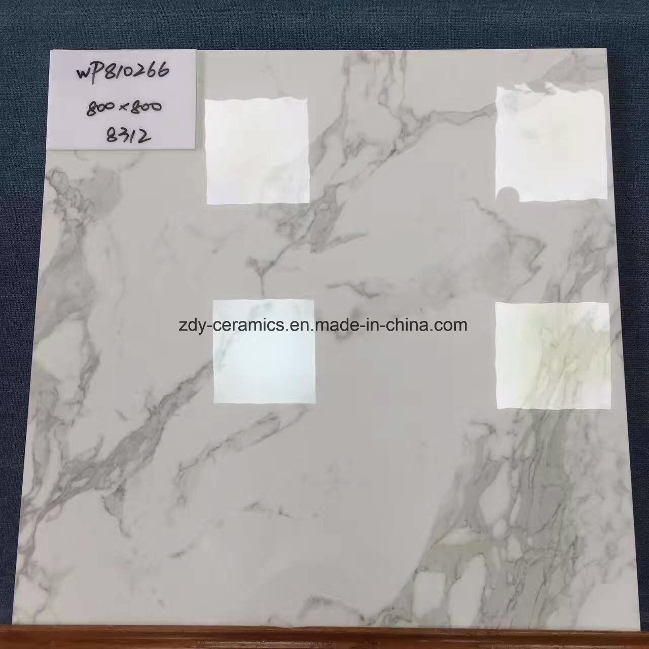 Foshan Promotion Tile Karara White 60X60 and 80X80 Full Polished Glazed Marble Floor Tile