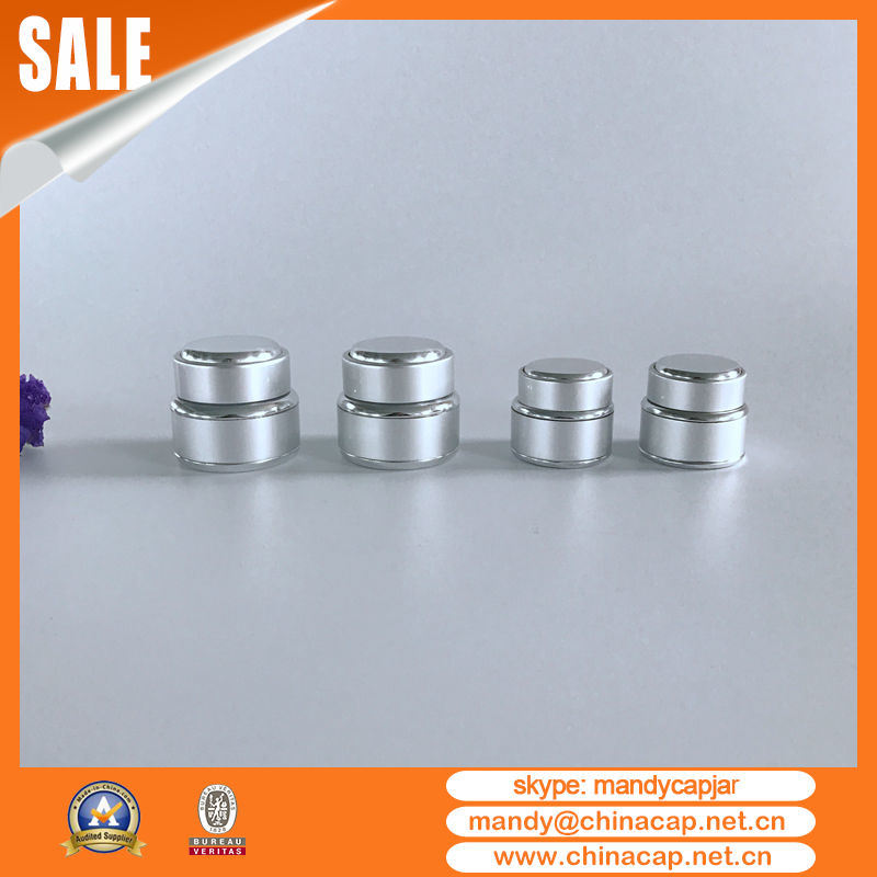30g Customized Cosmetic Aluminum Glass Jar with Lid