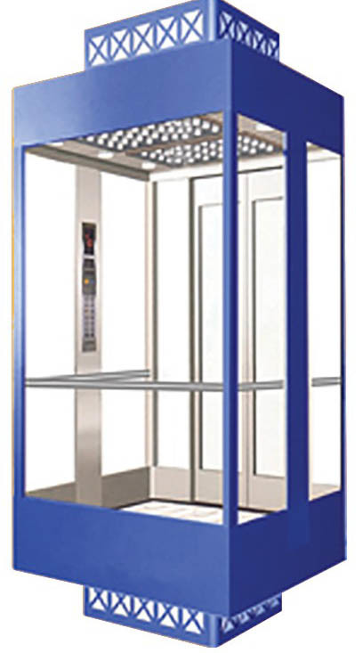Fast Full View Sightseeing Lift Usage and AC Drive Type Home Elevator