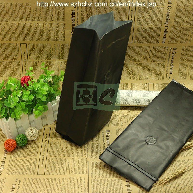 Side Guseet Foil Coffee Bag with Valve Tin Tie