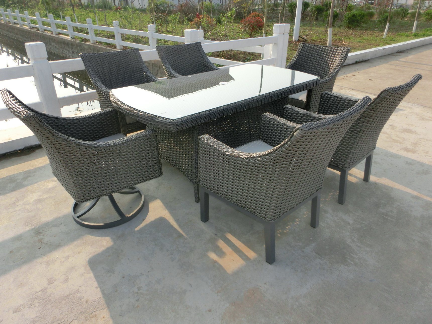10mm Half Moon Curve Flat Wicker Furniture