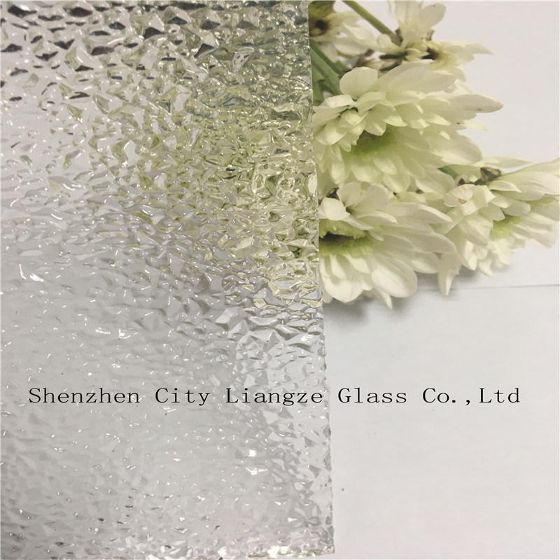 3mm-8mm Patterned Glass with Diamond Pattern for Decoration Since 1986