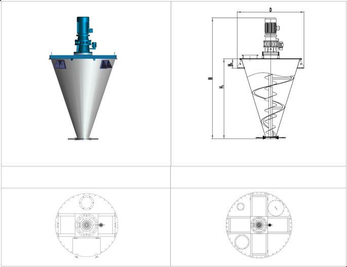 Save-Energy Double Screw Cone Mixer/Dryer/Mixing Equipment