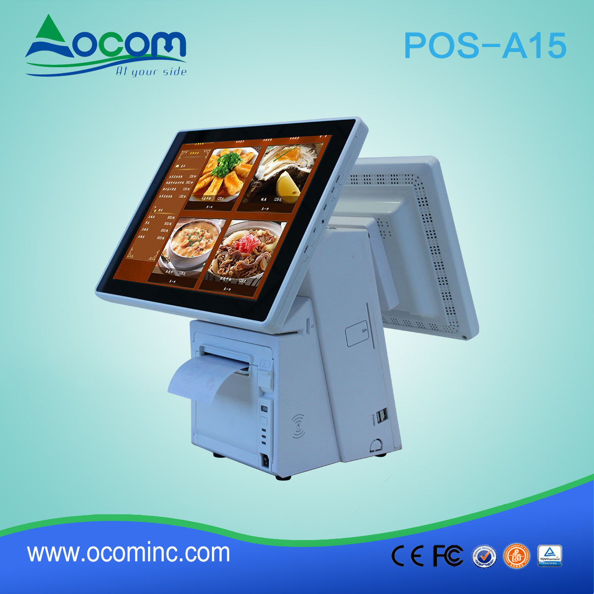 POS-A15 Electronic Cash Register/ POS PC Touch Screen All in One with Printer