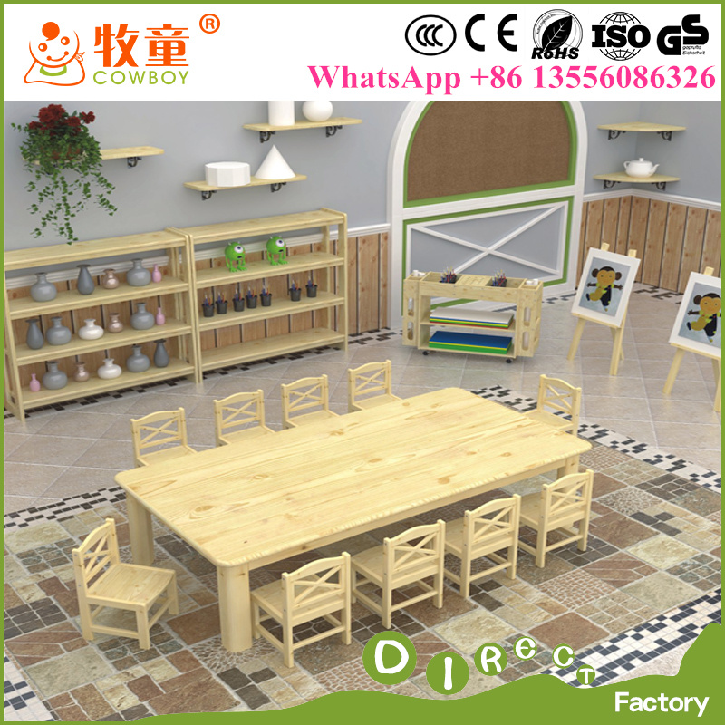 China Supplies Kids Wooden Kindergarten Classroom Furniture for Preschool with Ce
