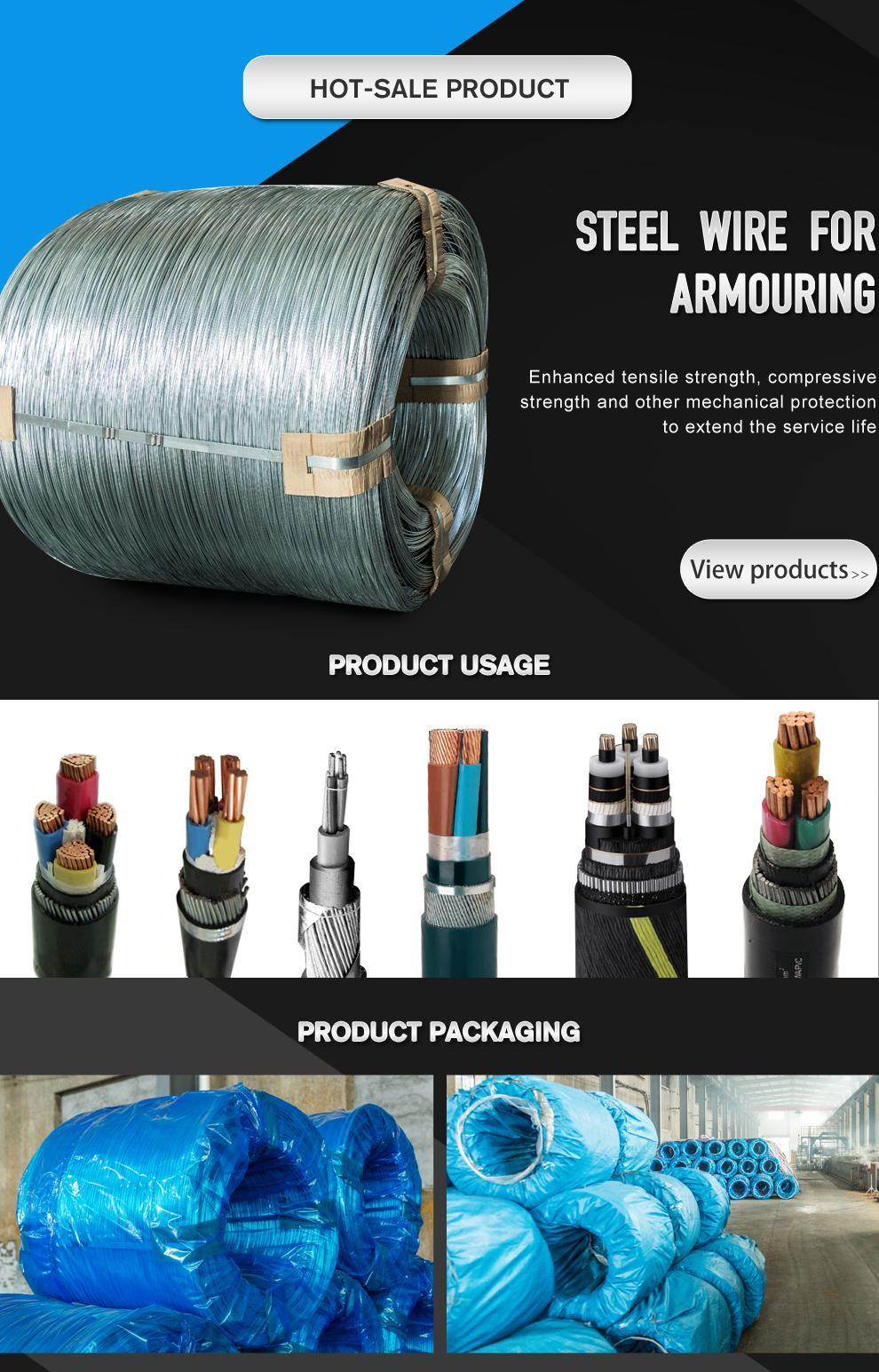 7/0.8mm Galvanized Steel Wire Strand Steel Guy Wire for Optical Fiber Cable