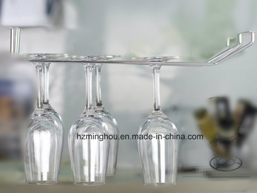 Chrome Metal Cup Rack Wire Wine Glass Rack
