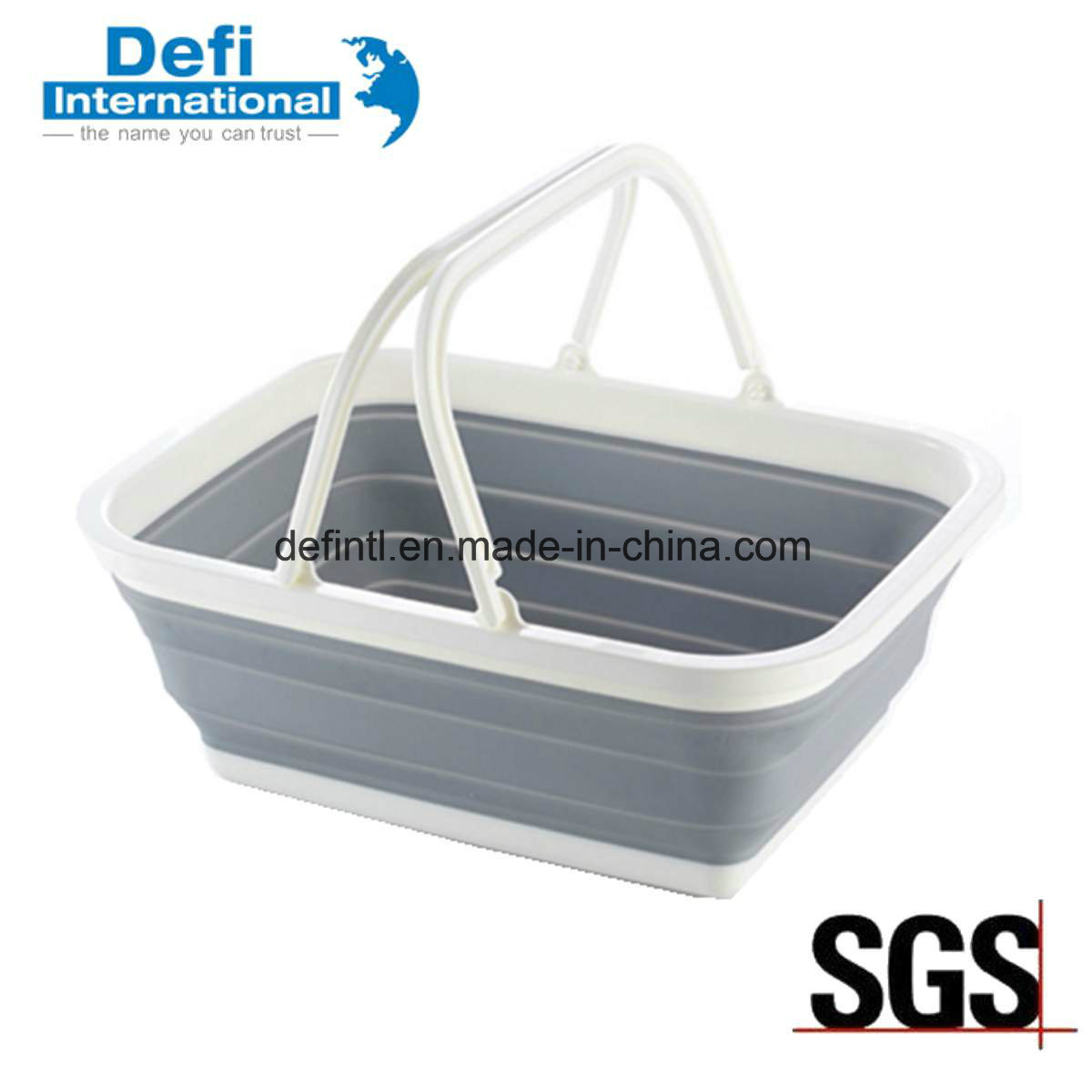 Foldable Plastic Hand Basket for Kitchen