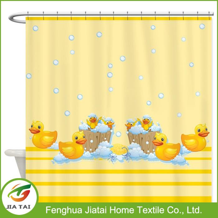Cute Duck Yellow Modern Extra Wide Shower Curtain