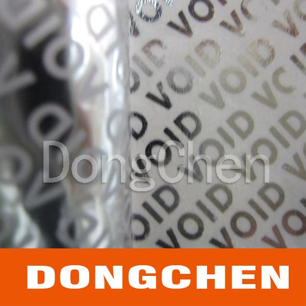 Custom Security Void Tamper Evident Packaging Seal Tape