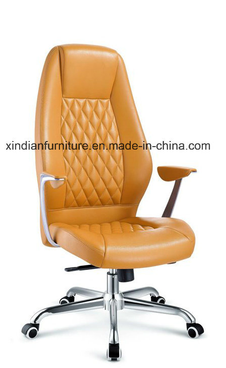 Leather Office Chair with Swivel and Arm