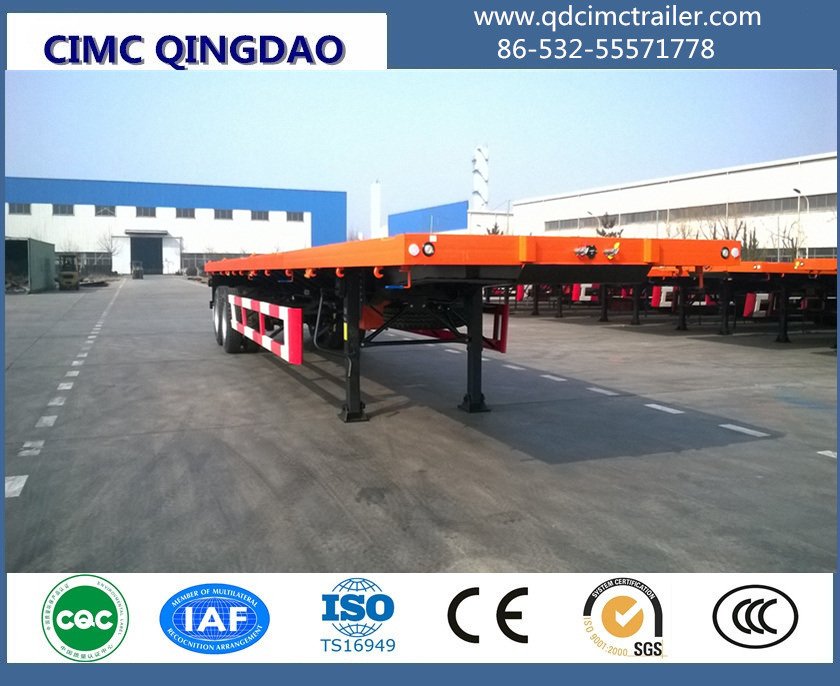 Cimc 40FT 3 Fuwa/BPW Axle Flatbed Container Semi-Trailer