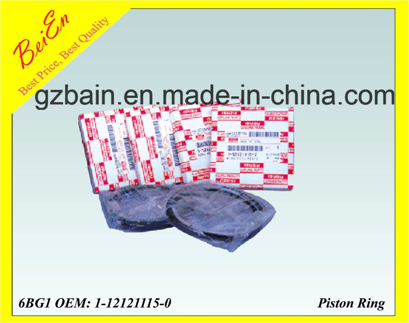 High Quality Quality Piston Ring for Isuzu Excavator Engine 6bg1 3G (Part Number: 1-12121115-0)